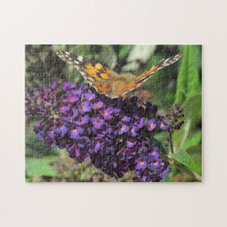 Puzzle - Butterfly on Purple Flower