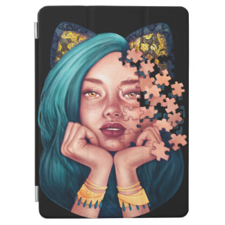 Puzzle Cat Girl Smart Cover iPad Air Cover