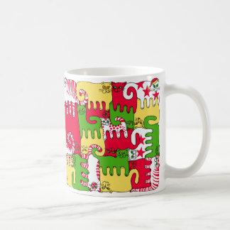"Puzzle Cats ""Winter Daze"" Coffee Mug"