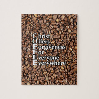 Puzzle COFFEE beans Christ Offers Forgiveness