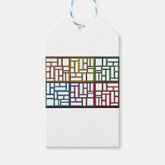puzzle colorfull pack of gift tags