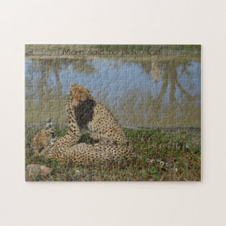Puzzle for older kids of playing Cheetahs