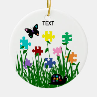 Puzzle garden with butterfly and snail Ornament