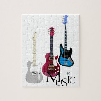 """Puzzle """"Guitars and Music """""""