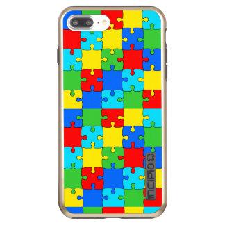 Puzzle iPhone 7 Plus DualPro Shine, Gold Incipio DualPro Shine iPhone 8 Plus/7 Plus Case