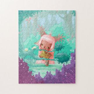 Puzzle kawaii little girl