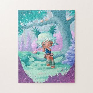 Puzzle kawaii little servant boy