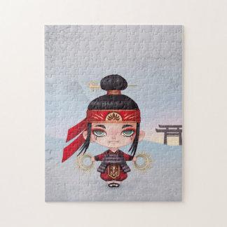 Puzzle kawaii samurai manga