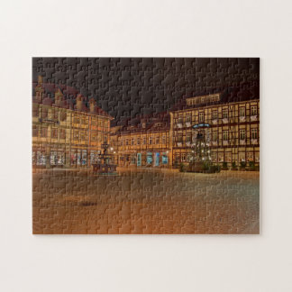 Puzzle market place who Niger ode at night