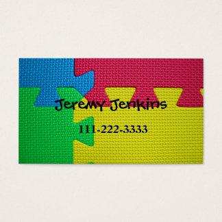 Puzzle Mat Children Calling Card