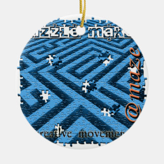 Puzzle Maze Riddle Ceramic Ornament