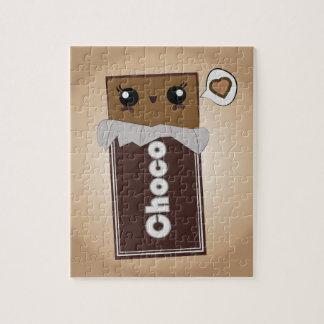 Puzzle mignon de barre de chocolat
