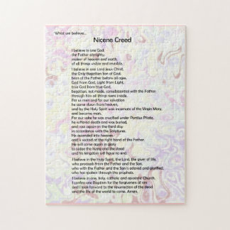 Puzzle-Nicene Creed ~ It's what we believe Jigsaw Puzzle