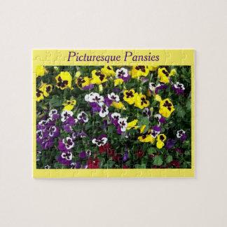 Puzzle of pansies