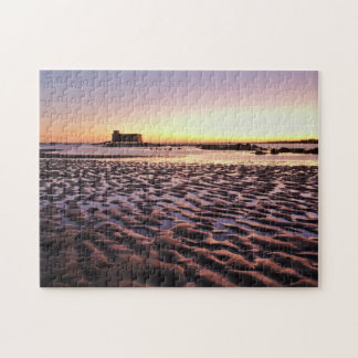 Puzzle: Old Lifesavers building covered by sunset Jigsaw Puzzle