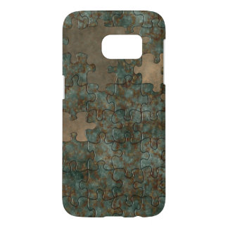 Puzzle oxidized metal samsung galaxy s7 case