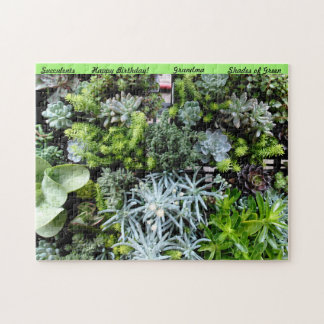 Puzzle Personalize Birthday Gift Shades of Green
