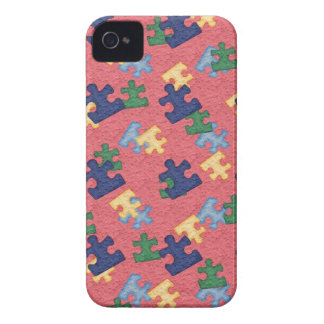 puzzle piece pattern iPhone 4 case