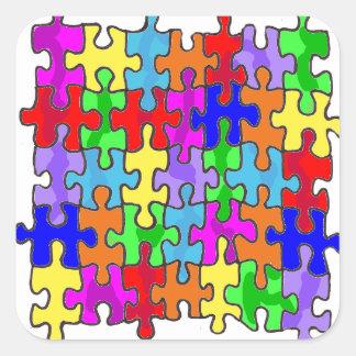 Puzzle Piece Square Sticker