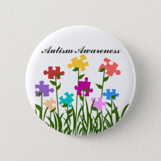Puzzle pieces garden button