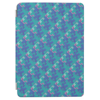 Puzzle Pieces Turquoise Blue Violet Tablet Cover iPad Air Cover