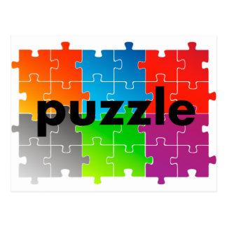 puzzle puzzle postcard