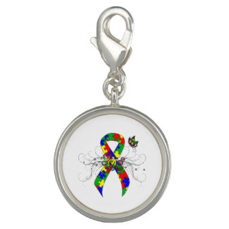 Puzzle Ribbon Butterfly Charms