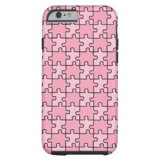Puzzle rose de cas de l'iPhone 6 de sensibilisatio Coque iPhone 6 Tough