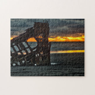 Puzzle, Sunset at the wreck of the Peter Iredale Jigsaw Puzzle