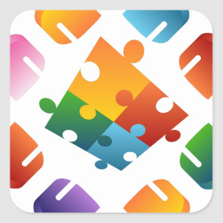 Puzzle Team Square Sticker