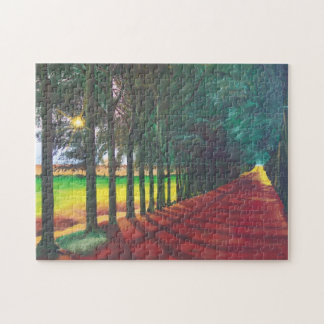 Puzzle Tree-Lined Lane