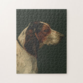 Puzzle vintage dog painting