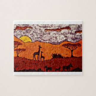 Puzzle with African Landscape