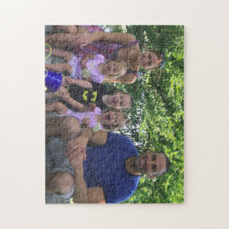 Puzzle with Chris, Sue & kids at marina
