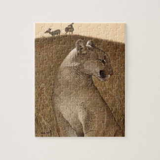 "Puzzle with Cougar & Mule Deer ""NATURAL ORDER"