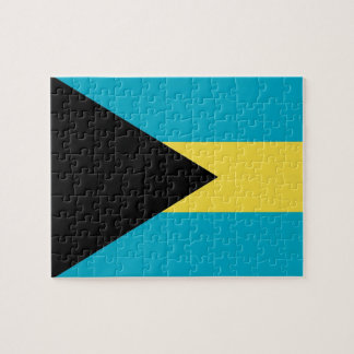 Puzzle with Flag of Bahamas