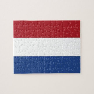 Puzzle with Flag of Netherlands