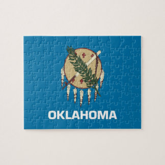 Puzzle with Flag of Oklahoma State