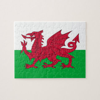 Puzzle with Flag of Wales