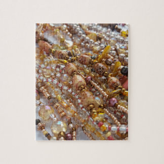 Puzzle with Gift Box- Earth Tones Bead Print