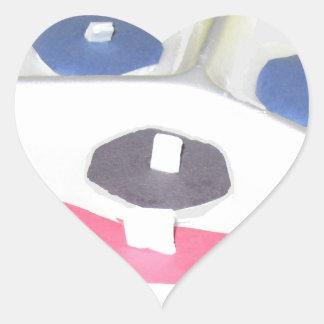 puzzleclown.JPG Heart Sticker