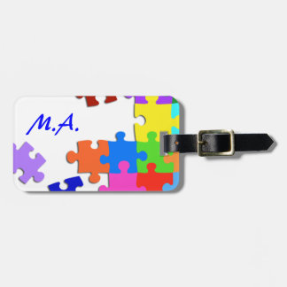 Puzzled Luggage Tag