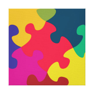 Puzzled Stretched Canvas Prints
