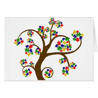 Puzzled Tree of Life Card