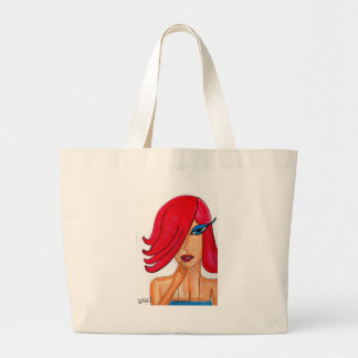 Puzzling Redhead Large Tote Bag