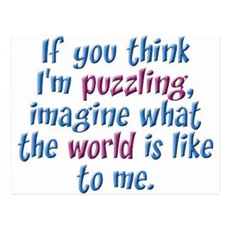 Puzzling World Postcard