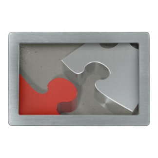 Puzzzzz Rectangular Belt Buckle