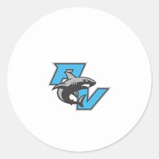 PV Sharks Classic Round Sticker