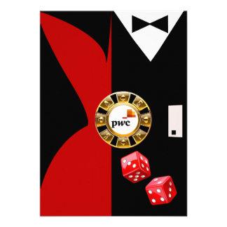 PwC Casino Royale Vegas Swank Dinner Dance Invitations