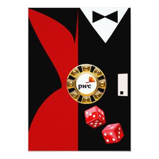 "PwC Casino Royale Vegas Swank Dinner Dance 5"" X 7"" Invitation Card"